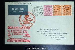 Graf Zeppelin 4. Südamerikafahrt  Sieger 223 B Norwich Berlin Friedrichshafen Rio De Janeiro Brasil. - 1902-1951 (Könige)