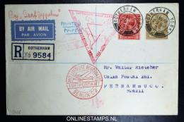 Graf Zeppelin Sudamerikafahrt-chicagofahrt  Sieger 238 E Rotherham  Friedrichshafen Pernambuco Brasil. Registered Cover - 1902-1951 (Könige)
