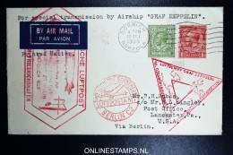 Graf Zeppelin Sudamerikafahrt-chicagofahrt  Sieger 238 E Rotherham  Friedrichshafen Pernambuco Brasil. - 1902-1951 (Könige)