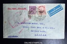 Graf Zeppelin 2. Südamerikafahrt 1933, Brasilianische Post,  Nach Oldham UK  Sieger 216 - Luchtpost