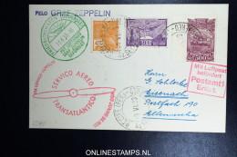 Graf Zeppelin 2. Südamerikafahrt 1933, Brasilianische Post,  Nach Eisenach   Sieger 216 - Luftpost