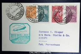Graf Zeppelin 2. Südamerikafahrt 1933, Brasilianische Post, Rio De Janeiro To Recife   Sieger 216 B - Luftpost
