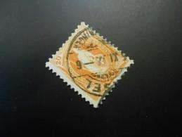 CH ZNr.86C   20C  Wz L  Stehende Helvetia - 14 Vertikalzähne 1907 - Gebraucht