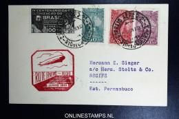 Graf Zeppelin 2. Südamerikafahrt 1933, Brasilianische Post, Rio De Janeiro To Recife   Sieger 216 B - Luchtpost
