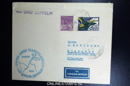 Graf Zeppelin 4. Südamerikafahrt 1933, Brasilianische Post, To Barcelona   Sieger 224 - Airmail