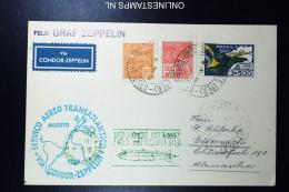 Graf Zeppelin 4. Südamerikafahrt 1933, Brasilianische Post, To Barcelona   Sieger 224 - Luftpost