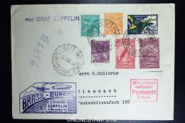 Graf Zeppelin 5. Südamerikafahrt 1933, Brasilianische Post, To Eisenach   Sieger 227 A - Luftpost