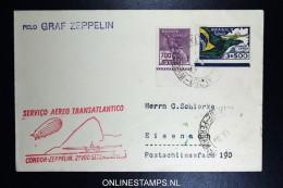 Graf Zeppelin 6. Südamerikafahrt 1933, Brasilianische Post,  Recife  To Eisenach Sieger 233 A - Luftpost