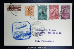 Graf Zeppelin Chicagofahrt 1933  Brasilianische Post,  Rio To Recife  Sieger  239 D - Luftpost