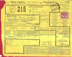 BRFE-8039      Gefrankeerde Vrachtbrief SPOEDBESTELLING POSTSTEMPEL  TOURINNES ST LAMBERT +  LIER-LIERRE N° 2 - Chemins De Fer