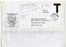 1998 - Lettre Taxée Pour Non Affranchissement Poids Plus De 20gr Avec Enveloppe T. Insuffisance D´affranchissement - 1960-.... Storia Postale