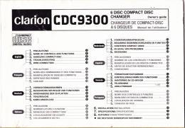 MANUALE D' USO - CLARION CDC9300 - Collectors Manuals