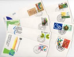 Nations Unies - New-York - Siège De L'ONU - Lot De 8 Enveloppes 1er Jour Période 1979 à 1982 - Briefe U. Dokumente