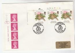 1986 GB COVER Multi Stamps TOAD Frog NATURE CONSERVATION  EVENT Pmk HMS BRAVE Navy Ship Floer Flowers - 1952-.... (Elizabeth II)