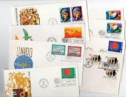 Nations Unies - New-York - Siège De L'ONU - Lot De 8 Enveloppes 1er Jour Période 1965 à 1975 - Non Classés