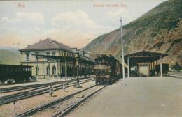 CH BRIGUE / Bahnhof Mit Elektrische Zug / CARTE COULEUR - VS Valais