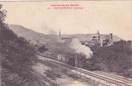 CPA Animée (07) CHATEAUBOURG La Gare (Intérieur) Train Locomotive à Vapeur - Autres Communes