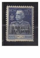4788-Somalia Giubileo L.1,25 Dentellato 11 Sassone 69 * Nuovo Linguellato – Colonie Italiane – Grande Rarità – Ottime Co - Somalie