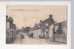 Cpa Circuit De La Sarthe 1906 Traversee De SCEAUX SUR HUISNE Afficheurs Surcin Et Deschizeaux  - Ed Cocu - France