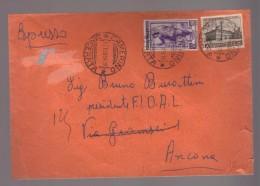 4962-Da Camerino Ad Ancona 17/02/1954- Filigrana 10/10 Lettere Ruota I DB Del L.50 Italia Al Lavoro - 6. 1946-.. Repubblica