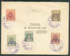 Lettre Obl. De Varsovie WARSAWA * WYSTAWA MAREK 11-V-19 Vers Varsovie. - 11068 - ....-1919 Gouvernement Provisoire