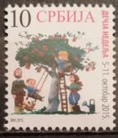 Serbia, 2015 ,Children's Week, Tree, Apple, Fruit, Flora, Animals, Dog, Family, (MNH) - Serbien
