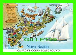 CARTE GÉOGRAPHIQUE, MAPS NOVA SCOTIA - CANADA'S OCEAN PLAYGROUND - - Cartes Géographiques