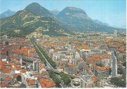 CPM 38 - Grenoble - Vue Générale - Le Cours Jean Jaurès - Au Fond, La Bastille Et La Chartreuse - Grenoble