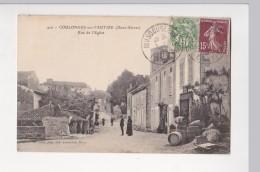 Cpa COULONGE SUR L AUTIZE Rue De L'eglise - Alix 410 - Coulonges-sur-l'Autize