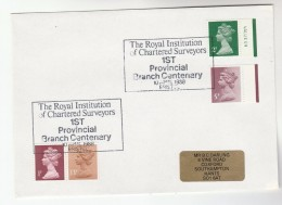 1988 Bristol GB Stamps COVER EVENT Pmk  1st PROVINCIAL BRANCH Of CHARTERED SURVEYORS - 1952-.... (Elizabeth II)
