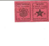 V-POSTA PARTIGIANA ALTO VARESOTTO-TAPPABUCHI - 5. 1944-46 Lieutenance & Umberto II
