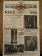Circus Cirque Circo Zirkus Knie Journal 1986 - Non Classés