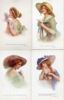 Raphael Tuck & Sons - 2976, A Dream Of Fair Women X 6 Avec Pochette - Tuck, Raphael