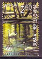 Bosnie Bosnia Europa 2001 Water Stamp From Block Timbre Du Bloc Y&t N° 11 O - Bosnia And Herzegovina