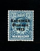 IRELAND/EIRE - 1922  10 D. FREE STATE  MINT NH SG 62 - 1922-37 Stato Libero D'Irlanda
