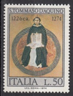 """1371 Italia 1974 """" Trionfo Di San Tommaso D´Aquino """" - Quadro Dipinto Da L. Memmi Viaggiato MNH Gotico Paintings - Teologi"""
