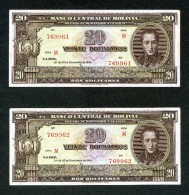 "BOLIVIA BILLETES; 20 Bs 1945 ""REFORMA DEL SISTEMA BANCARIO"". - Bolivia"