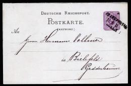 A3873) DR Antwortteil-Karte Per Bahnpost FRANKFURT-COELN 15.3 II - Briefe U. Dokumente