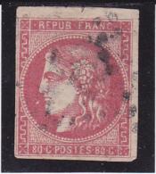 """Timbre 49 Oblitéré  Nuance """"Groseille""""- Voir Verso  & Descriptif - - 1870 Emission De Bordeaux"""