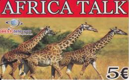 GREECE - Giraffes, Africa Talk, Best Telecom Prepaid Card 5 Euro, Sample - Griechenland
