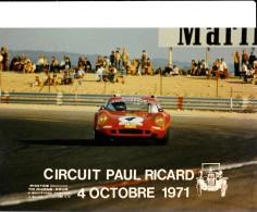 CIRCUIT PAUL RICARD - 4 OCTOBRE 1971. 2 PHOTOS - Cars
