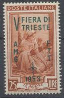 Trieste 1953 Fiera Trieste Lire 25 - 7. Trieste