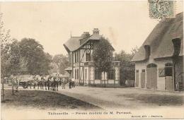 THIBOUVILLE  ( Eure )  /  FERME  MODÈLE  DE  M.  PARISSOT  /  Chevaux - Francia
