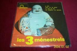 LES 3  MENESTRELS  ° LE BIDE   + 3 TITRES °°°°  AVEC AUTOGRAPHES DES 3 MENESTRELS - Autographes