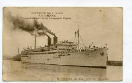 CPA   Bateau    :  Paquebot Poste Compagnie Paquet Le  SS DJENNE     VOIR  DESCRIPTIF  §§§ - Steamers