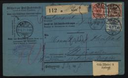 D.R.Paketkarte Von 1891,von Greiz (9360) - Duitsland
