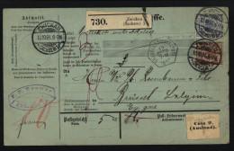 D.R.Paketkarte Von 1891,von Zwickau (9360) - Allemagne