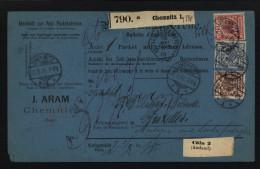 D.R.Paketkarte Von 1891,von Chemnitz (9360) - Allemagne