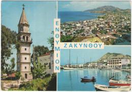 GRECIA - GREECE - GRECE - GRIECHENLAND - 1983 - ZANTE ZACINTO ZAKYNTHOS - Multiviews - Viaggiata Da Athinai Per Ugine... - Grecia