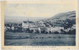Cruseilles (Haute-Savoie) - Vue Générale - Edition L. Fauraz - Carte Monochrome Bleue, Dentelée, G.R. N°240 - France